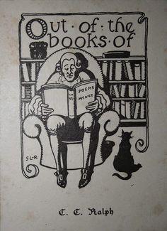 Ex libris con estanterías llenas de libros.
