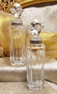 Vintage Crystal Perfume Bottles  Czech Republic