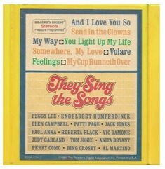 Various Artists / They Sing the Songs | Reader's Digest RD5A-036-1 | 8-Track Tape | 3 Tape Box Set | 1980