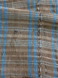 A small piece of Tamba-fu, one of the most revered of the Japanese country textiles. Woven in the 19th century of hand spun cotton warp and a tsumugi silk and cotton weft. It colors distinctive: soft nut brown, undyed white and pale indigo. I love the detail of the seam stitching too.