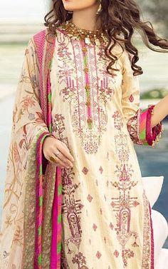 Ivory Lawn Suit   Buy Rang Rasiya Pakistani Dresses and Clothing online in USA, UK Pakistani Lawn Suits, Pakistani Dresses, Fashion Pants, Fashion Dresses, Rang Rasiya, Suits Online Shopping, Add Sleeves, Buy Rings, Lawn Fabric