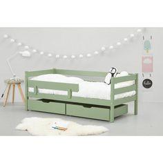Hoppekids peuterbed met uitvalbeveiliging (70x160 cm) , Groen Baby Bedroom, Kids Bedroom, Toddler Rooms, Toddler Bed, Kid Beds, Kidsroom, Cot, Boy Room, Ideal Home