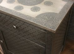 1000 Images About Embossed Metal On Pinterest Metal Cabinets Metals And Pewter