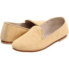 French Sole slippers in raffia.