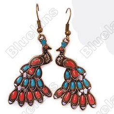 Discount China china wholesale Bohemia Style Fashion Beautiful Peacock Earrings Earring 6047 [6047] - US$0.99 : Bluelans