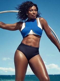 A picture of Serena Williams. This site is a community effort to recognize the hard work of female athletes, fitness models, and bodybuilders. Serena Williams Photos, Venus And Serena Williams, Black Girl Magic, Black Girls, Muscular Women, Maria Sharapova, Rafael Nadal, Roger Federer, West Palm Beach