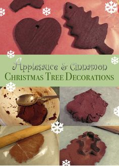 Applesauce and cinnamon Christmas Tree decorations.  These are so fragrant and your whole house will smell awesome!