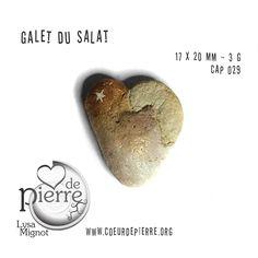 Galets peints Salat et Garonne - cœur - www.coeurdepierre.org