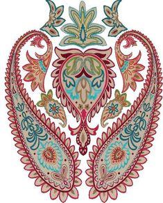 Textile Pattern Design, Textile Patterns, Textile Prints, Pattern Art, Print Patterns, Textiles, Paisley Art, Paisley Design, Asian Wallpaper