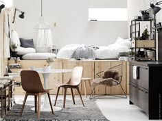 Living Room : Ikea compact living via Coco Lapine Design Tiny Apartments, Tiny Spaces, Small Space Living, Living Spaces, Living Room, Studio Living, Living Area, Ikea Design, Small Apartment Design