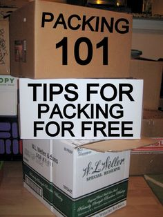 PACKING 101: Tips for packing for free  Very useful information and resources!!!