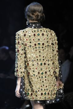 I think this jewel encrusted jacket reminds me of the work of Gustav Klimt.