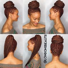 Feedin Cornrows done by London's Beautii in Bowie, Maryland. www.styleseat.com/v/londonsbeautii #CornrowsColored