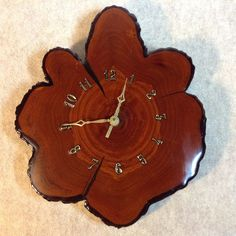 Vintage Cypress Wood Stump Wall Clock   Resin Finish   Handcrafted    Beautiful Grain We Made