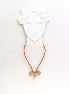 three small drops  matinee necklace  mustard by FMLdesign on Etsy, €70.00