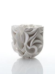 White Ceramic vessel Hallma Cassell, Capitol, gallery Joanna Bird