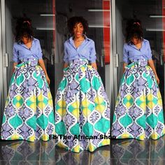 Limited Zoey Maxi Skirt with bow tie by THEAFRICANSHOP on Etsy, £50.00