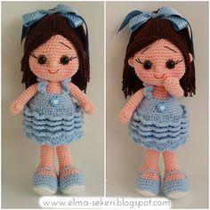 My crochet doll Crochet Doll Pattern, Crochet Dolls, Crochet Baby, Doll Patterns, Knitting Patterns, Crochet Patterns, Doll Toys, Baby Dolls, Crochet Projects
