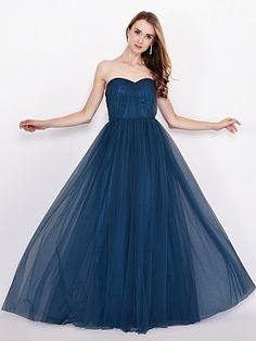 Floor Length Tulle Bridesmaid Dress in Convertible Design