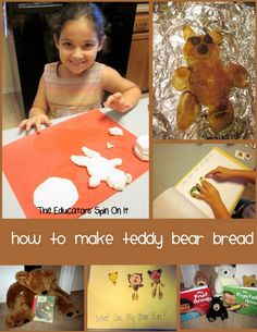 Teddy Bear Biscuits Recipe and Book Idea for Kids to encourage kids cooking and early literacy skills