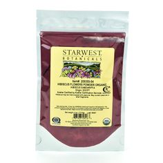 Starwest Botanicals Organic Hibiscus Flower Powder, 4 Ounces