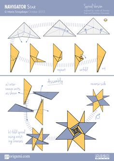 Origami instructions com 8 pointed origami star - Modular Origami On Pinterest Origami Stars Origami And