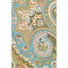 Hand-hooked Charlotte Blue/Green Rug (7'6 x 9'6) | Overstock.com Shopping - Great Deals on Alexander Home 7x9 - 10x14 Rugs