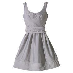 TEVOLIO™  Womens Scoop Neck Taffeta Dress w/Removable Sash - Assorted Colors