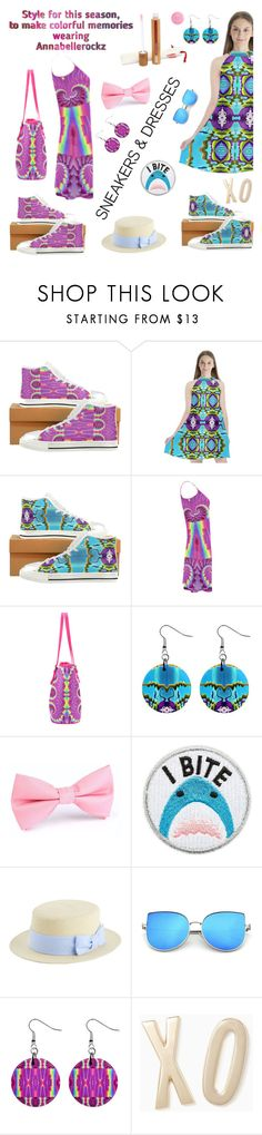 """Sneakers & dresses"" by annabellerockz ❤ liked on Polyvore featuring Skinnydip, Kate Spade, contest, outfit, dresses and annabellerockz"