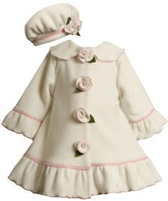 Bonnie Baby Baby-girls Infant Ruffle Sleeve and Hem Coat