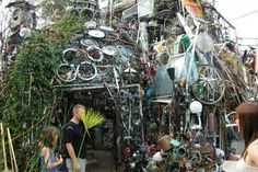 Cathedral of Junk - An unique structure in suburban Austin comprised entirely of other people's castaways