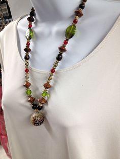 Earthy jasper necklace Etched jasper  Organic by UniquelyArdath, $28.99