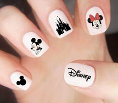 Disney Nail Decals Disney Nails Mickey Mouse Nail Decals With Disney Nails Disney Acrylic Nails, Disney Nails, Cute Acrylic Nails, Disney Nail Designs, Cute Nail Designs, Nail Designs For Kids, Cute Nail Art, Cute Nails, Disneyland Nails