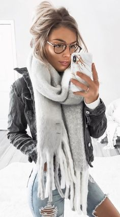 #winter #outfits  I Can Stay Wrapped Up In This Oversized Scarf All Day ☁️ From @shop.meko