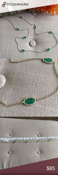 Kendra Scott Kelsie Necklace in Gold and Green This Kendra Scott Kelsie Necklace in Gold and Green is new, never worn with tags. No box or bag but I will ship in a box! Finally deciding to let go of some of my KS collection as I'm moving and need to clear out the jewelry box. Smoke free home. This is such a pretty necklace that can be casual or dressed up!! Kendra Scott Jewelry Necklaces