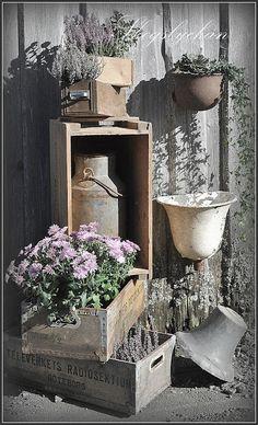 galvanised and wood
