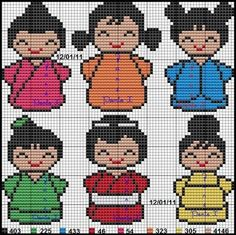 Japanese perler bead pattern