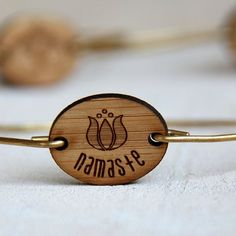 Namaste bracelet yoga jewelry bangle via Etsy...a great ...