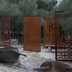 Image result for corten screens and living walls