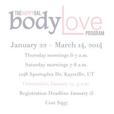 The Happy Gal Body Love Program - An Approach that Works - Changes that Last