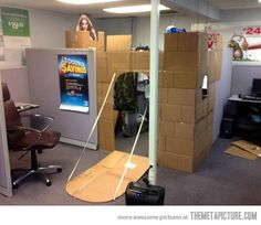 The proper way to decorate a cubicle… except I want the guy from Monty Python and the Holy Grail on the ramparts!