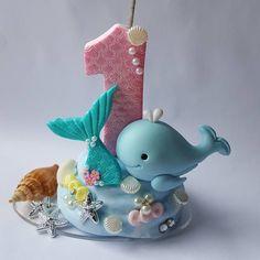 Sailing seabed for girl . 🦈🐚🐙🦀😍😍😍😍 - Festa fundo do mar - Aniversario Fondant Figures, Custom Cake Toppers, Baby Party, Boy Birthday, Sailing, Polymer Clay, Clip Art, Christmas Ornaments, Holiday Decor