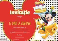 Invitații petreceri copii - BluParty Baby 1st Birthday Cake, Mickey Minnie Mouse, Classroom Themes, Princess Peach, Party, David, Christians, Bebe, Receptions