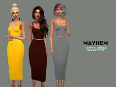 hq texture,standalone, 28 swatches  Found in TSR Category 'Sims 4 Female Everyday'