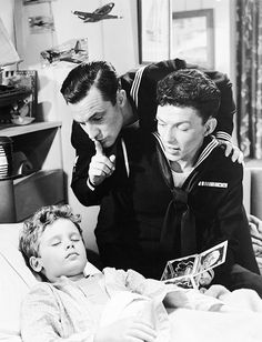 Dean Stockwell, Gene Kelly, and Frank Sinatra in Anchors Aweigh (1945)