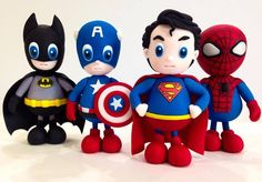 Cute super heroes - For all your cake decorating supplies, please visit craftcompany.co.uk