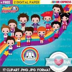 Junior Express, Clipart Png, Kawaii, Disney Junior, Banner, Barbie, Clip Art, Scrapbook, Etsy