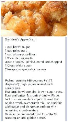 Yummy Apple Crisp