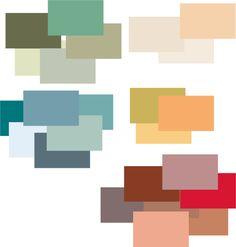Colour for the georgian home colour pallet on the left for Art deco interior design colours