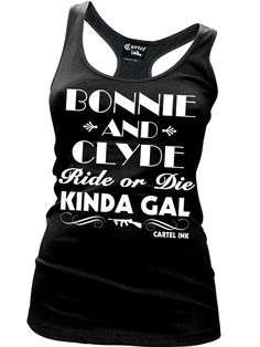 "Women's ""Bonnie and Clyde"" Tank by Cartel Ink"